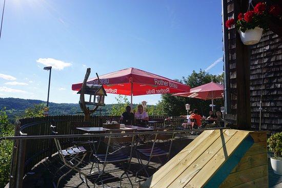 Berggasthof Rother Kuppe: Außenterrase
