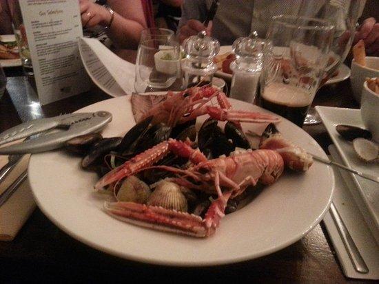 Donaghadee, UK: Seafood platter
