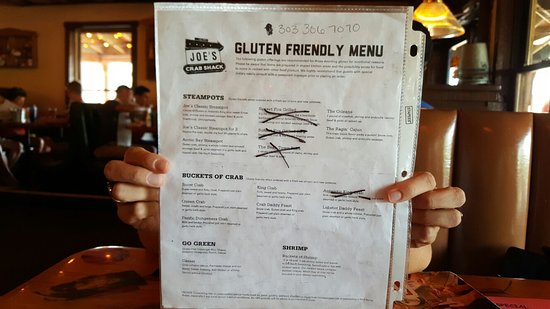 Aurora, CO: I don't expect a lot of options for my gluten-free forced diet, but how about a reworked menu in