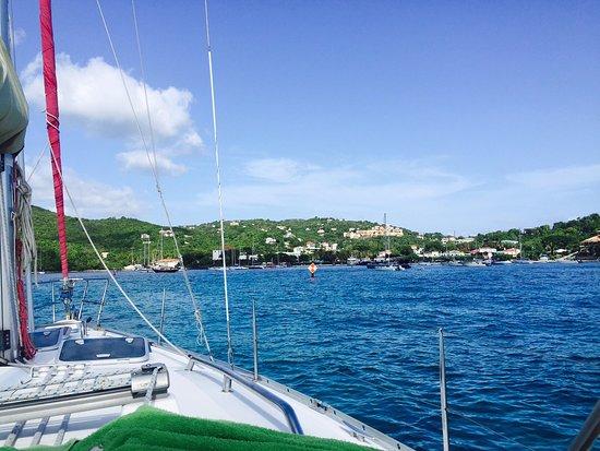 Sail Safaris: Coming back into Cruz Bay
