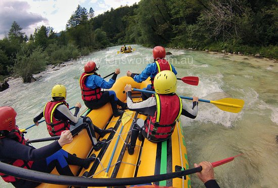 Soca Rider : Enjoying the rapids on Soca River with our young family