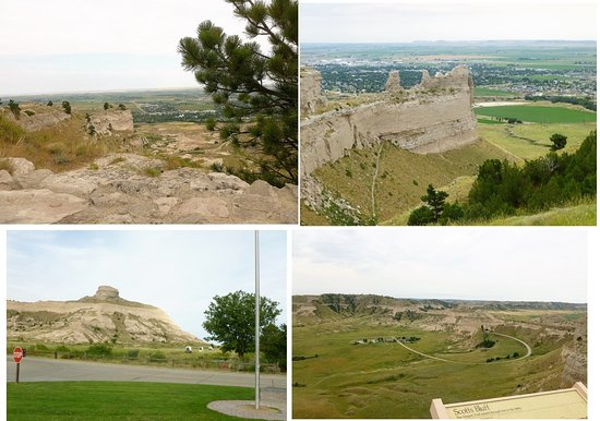 Scottsbluff, NE: Visitor's Center and views from the trails at the top of the bluff.