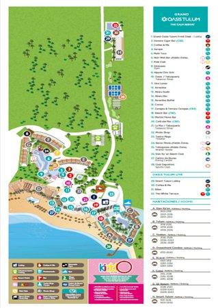 Grand Oasis Tulum Hotel Map