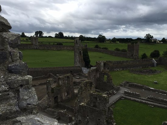 Kells Priory: View of grounds from on top of the prior.
