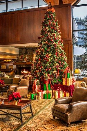 Olympic Valley, CA: Resort at Squaw Creek_Lobby_Christmas Tree