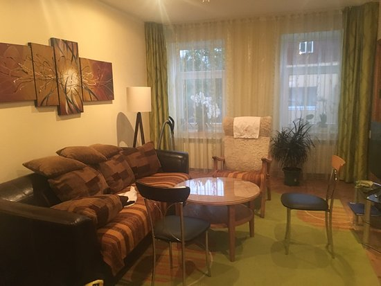 Kallaste, Estonia: One of the many places they offer.  This apartment has two bedroom.  One with two twin bed and t