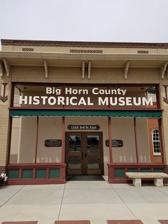 Big Horn County Historical Museum: Museum entrance.
