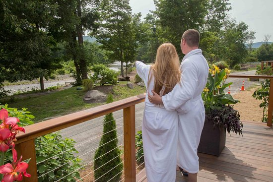 Mount Tremper, NY: View from the spa deck