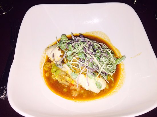 Asolare: Caribbean Conch Layered Grouper - one of the best dishes I've had