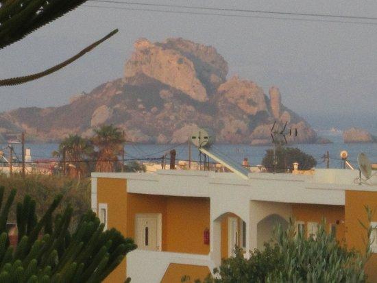 Kos Island Studios: Vista dal balcone della stanza (usato zoom)