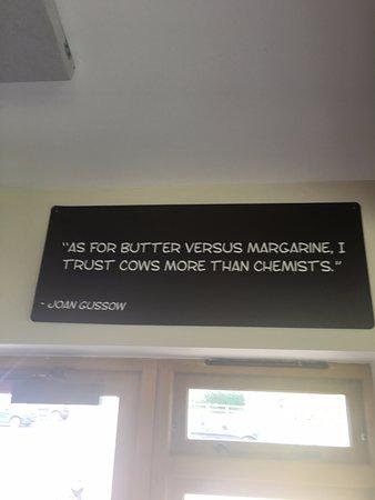Gillingham, UK: Sign in the Cafe