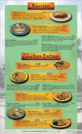 Versailles, Кентукки: Burritos, Chicken Entrees