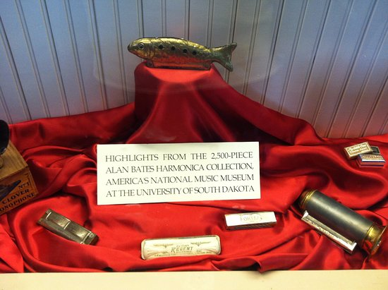 Mason City, IA: Harmonicas on display in Music Man Square.