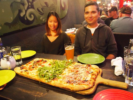 Tony's Pizza Napoletana: An all in one flatbread pizza-couldn't describe all the toppings!!1