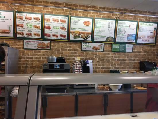 Webster, NY: Subway - ordering counter
