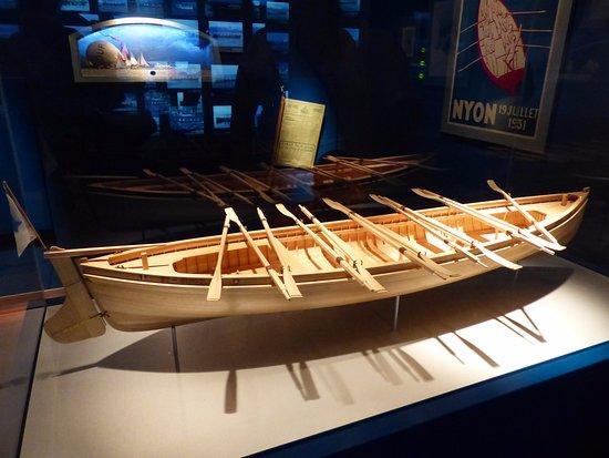 Nyon, Suisse : Model boat in Musee Du Leman.