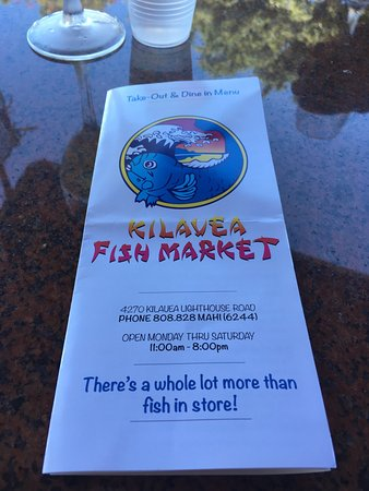 Kilauea Fish Market: This was the best seafood offering bar none on my recent 10 day trip. We ate there twice and the