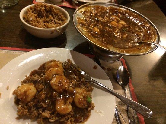 Westland, MI: Shrimp with lobster sauce