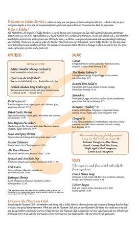 Burr Ridge, IL: Dinner Menu