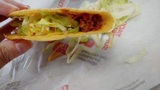 Monroeville, PA: The taco that had lettuce (a LOT of lettuce).
