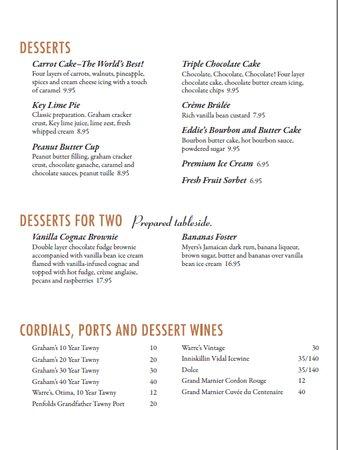 Warrenville, IL: Dessert Menu