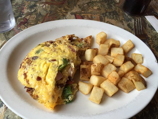 Dillon omelette and potatoes