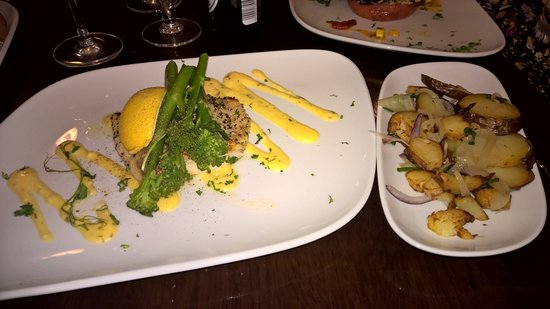 Donaghadee, UK: Grilled Turbot Main with Sauteed Potatoes