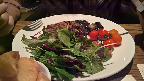 Great Rissington, UK: Yummie steak