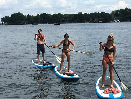 Excelsior, MN: Tonka Trolly paddleboards
