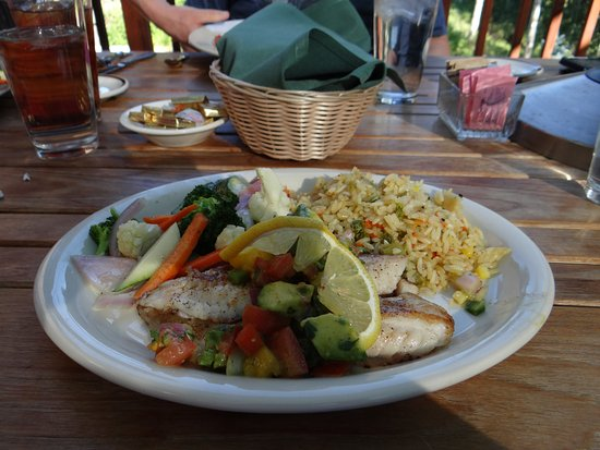 Brighton, UT: grilled red snapper