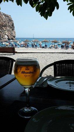 Calahonda, Spanien: Vistas desde la terraza restaurante y bar de copas del atico