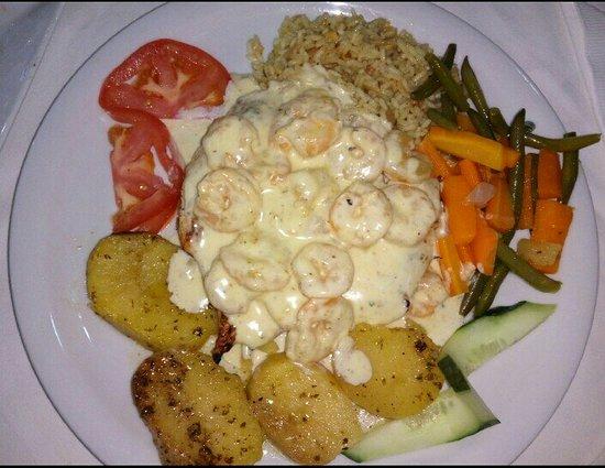 Lambi's : Κοτόπουλο με γαρίδες και κρέμα.....!!!!!!