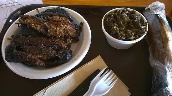 Epping, NH: Beboned beef ribs with collard greens. $76.00 with tax