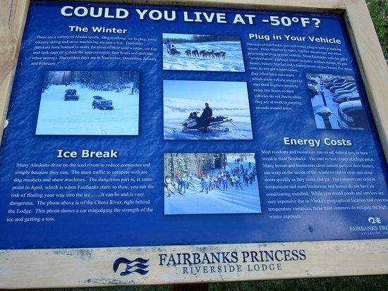Fairbanks Princess Riverside Lodge: Interesting information, June 2016