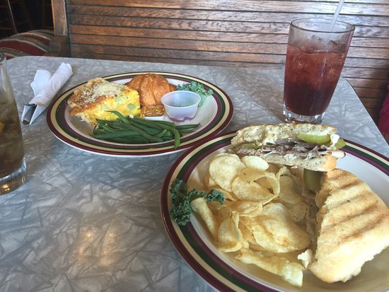 Edgerton, WI : Broccali & Cheddar Quiche and Cuban Panini