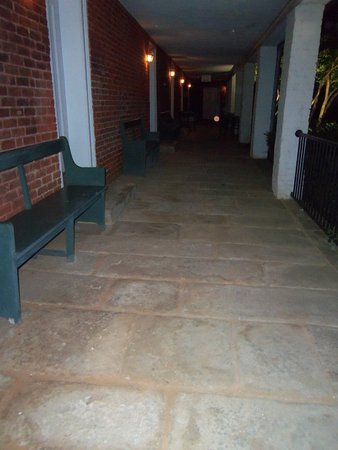 South Boston, VA: Original Plantation Stone Walkway made from Stones they excavated from the property