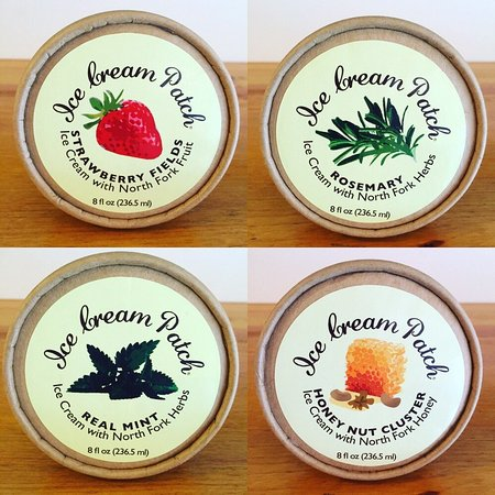 Cutchogue, NY: Seasonal ice cream in to-go cups now available - all made with local North Fork produce and hone