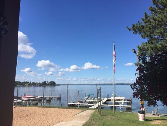 Mauston, WI: Part of the view from the patio - shipwreck Bay