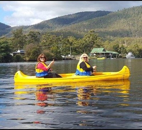Such a peaceful and relaxing canoe ride. Love the canoes at Huon Jet Boat, Huonville.