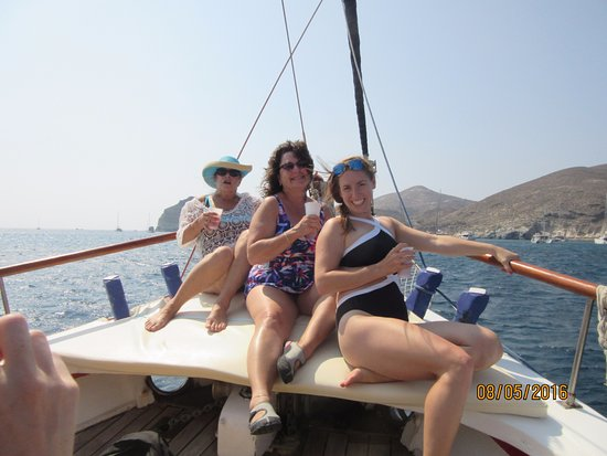 Santorini Yachting: Cocktails on the Foredeck