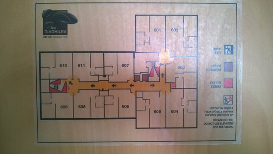 The Diaghilev, LIVE ART Boutique Hotel: 6th floor diagram (highest floor)