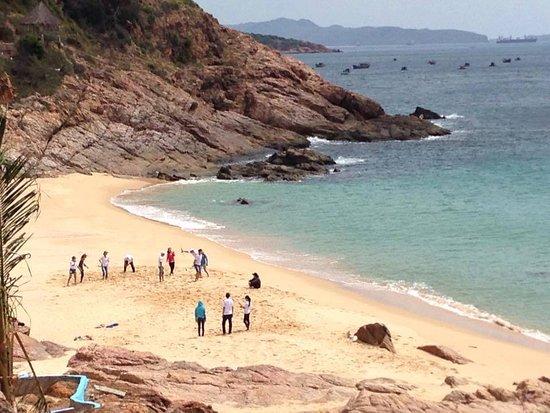 Song Cau Town, Vietnam: Playing on the Beach