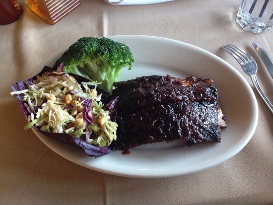 Wood Ranch BBQ & Grill: Ribs and coleslaw - Ribs And Coleslaw - Picture Of Wood Ranch BBQ & Grill, Santa