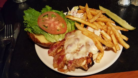 Strasburg, PA: Grilled chicken, bacon, and cheese on a pretzel roll.