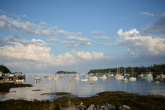 Tenants Harbor, ME: View from meeting house porch