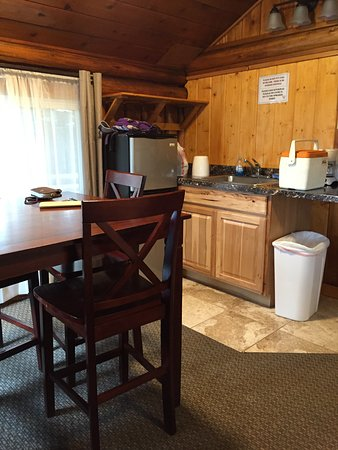 "Moose Creek Cabins and Inn: ""kitchen"" area"