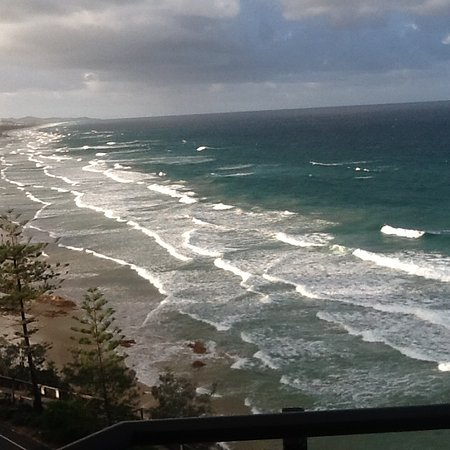 Clubb Coolum Beach: View from level 8 looking north towards Noosa.