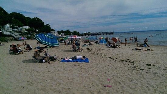 Crystal Beach: The beach looking left.