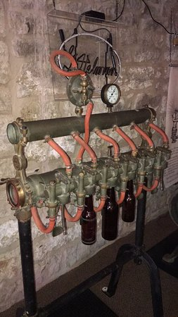 Potosi, WI: Old bottling apparatus.