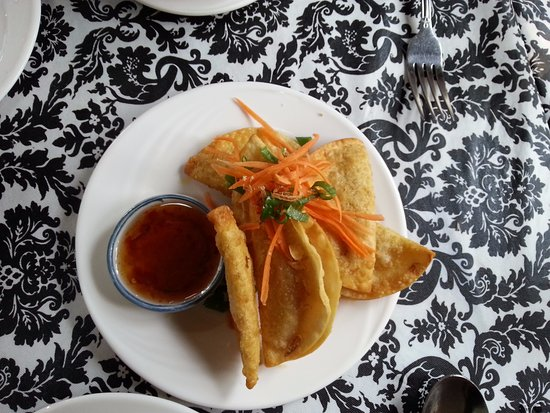 Lambertville, NJ: Fried vegetable dumplings.